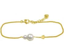 Armband »Pearl Love« gold / weiß