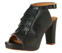 Sandaletten mit Fransenbesatz 'Olivia' schwarz