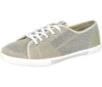 'Aberlady' Fishnet Metal Sneakers ecru / gold