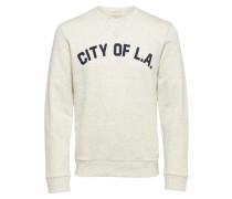 Bedrucktes Sweatshirt weiß
