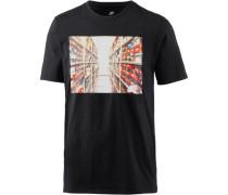 T-Shirt mischfarben / schwarz