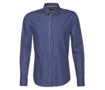 Hemd mit Paisley-Muster 'ESlimE_1' dunkelblau