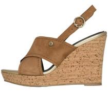 Sandale dunkelbeige