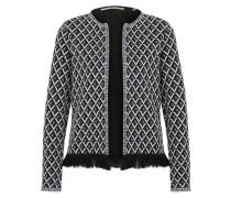 Offene Jacke im Muster-Design dunkelblau / weiß