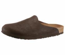 Pantoffeln dunkelbraun