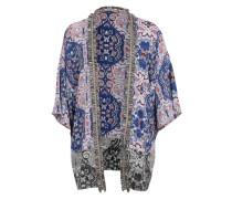 Kimono mit Allover-Print blau / mischfarben
