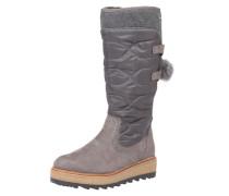 Wattierter Stiefel grau / taupe / graphit
