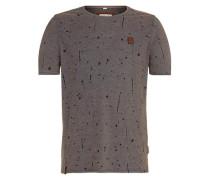 Male T-Shirt 'What's the 411' dunkelblau / braun
