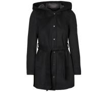 Woll Mantel schwarz