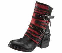 Stiefelette rot / schwarz