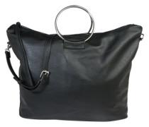 Shopper 'Pcritta' im Leder-Look schwarz