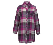 Nachthemd grau / dunkellila / pink
