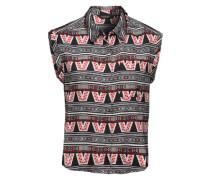 Cropped Bluse aus Viskose 'Nabidjan' schwarz / mischfarben