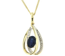 Jewels Anhänger mit Saphir und Brillanten gold