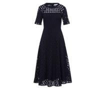 Kleid 'Bordery Anglaise' nachtblau
