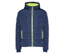 Winter Steppjacke navy / limette