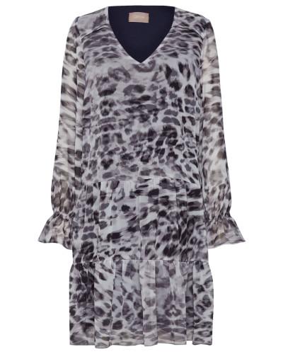 Kleid grau / dunkelgrau / schwarz