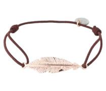 Armband 'Small feather' braun / rosé