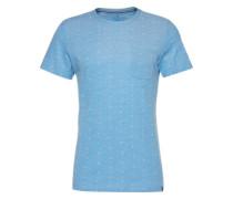 T-Shirt 'allover printed tee' blau