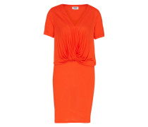 Kleid in Wickeloptik orange / rot
