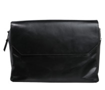 Messenger Bag 'New Courier' aus Leder schwarz