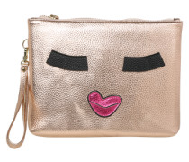 Kosmetiktasche 'Kiss Me Monster' gold