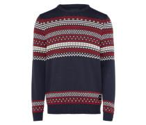 Norweger-Pullover 'Bolden' navy / rot / weiß