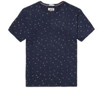 "Hilfiger Denim T-Shirt ""thdm CN Letter Knit S/S 43"" dunkelblau"