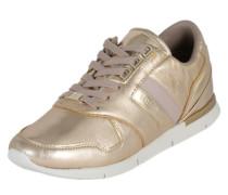 Sneaker aus Leder gold