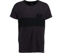 T-Shirt 'striped' schwarz
