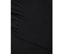Einfarbiger Woll-Schal 'Champ' schwarz