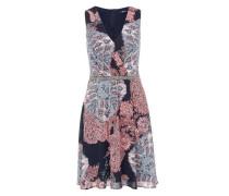 Chiffonkleid mit Zierperlen navy / lila / pink