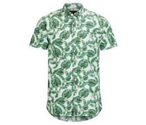 Bedrucktes Kurzarmhemd grün