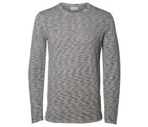 Crew-Neck-Sweatshirt grau / graumeliert