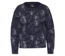 Sweatshirt 'Sk fyx biker' nachtblau / weiß