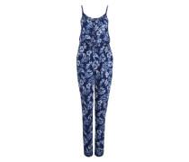 Jumpsuit 'Poolside' blau / mischfarben