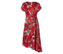 Kleid mit A-Symmetrie 'Pantone' creme / rot