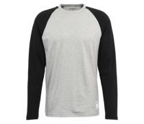 Raglan-Shirt mit langen Ärmeln graumeliert / schwarz