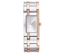 Armbanduhr gold / silbergrau