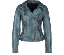 Lederjacke Magic Star blau