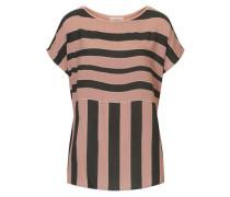 Bluse im trendigen Streifenlook anthrazit / rosé