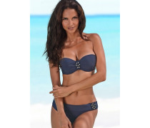 Bügel-Bandeau-Bikini blau