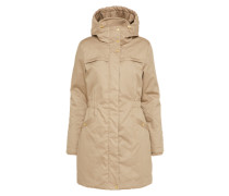 Lange Jacke 'Frida Gold Trim' beige