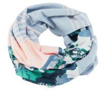 Loop-Schal mit Print blau
