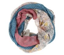 Loop-Schal mit Muster-Mix mischfarben / pink