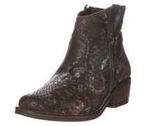 Boot in Reptil-Optik mokka