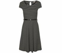 Jersey-Kleid 'Vmvigga' schwarz / weiß