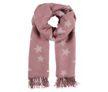 Schal mit Sternen-Print rosa / offwhite