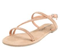 Sandalette mit Ziersteinchen puder