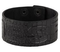 Armband 'A-Crocle' schwarz